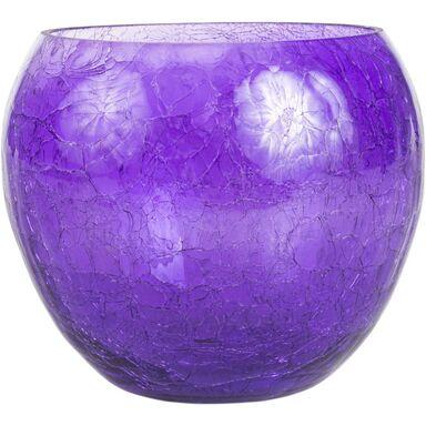 Osłonka do storczyka 15 cm szklana fioletowa FIONA