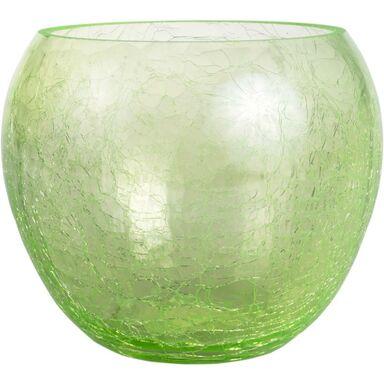 Osłonka do storczyka 15 cm szklana zielona FIONA