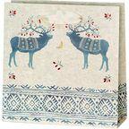 Torebka na prezenty Ethno deers 6 x 17 cm