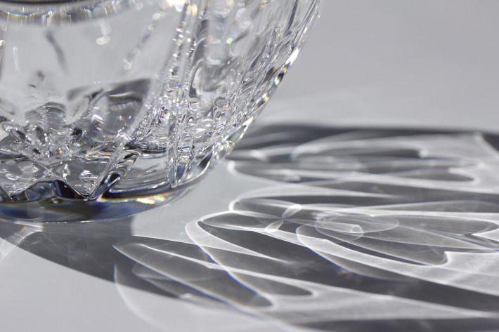 Czyste naczynie kryształowe