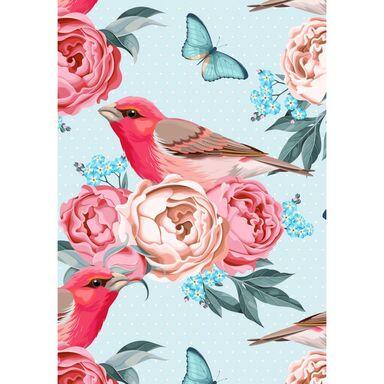 Kanwa ARTCANVAS BIRD IN FLOWERS 70 x 100 cm