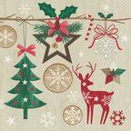 Serwetki świąteczne Rustic christmas 33 x 33 cm 20 szt.