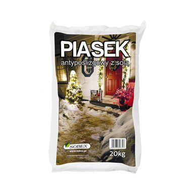 Piasek antypoślizgowy z solą 20 kg SOBEX