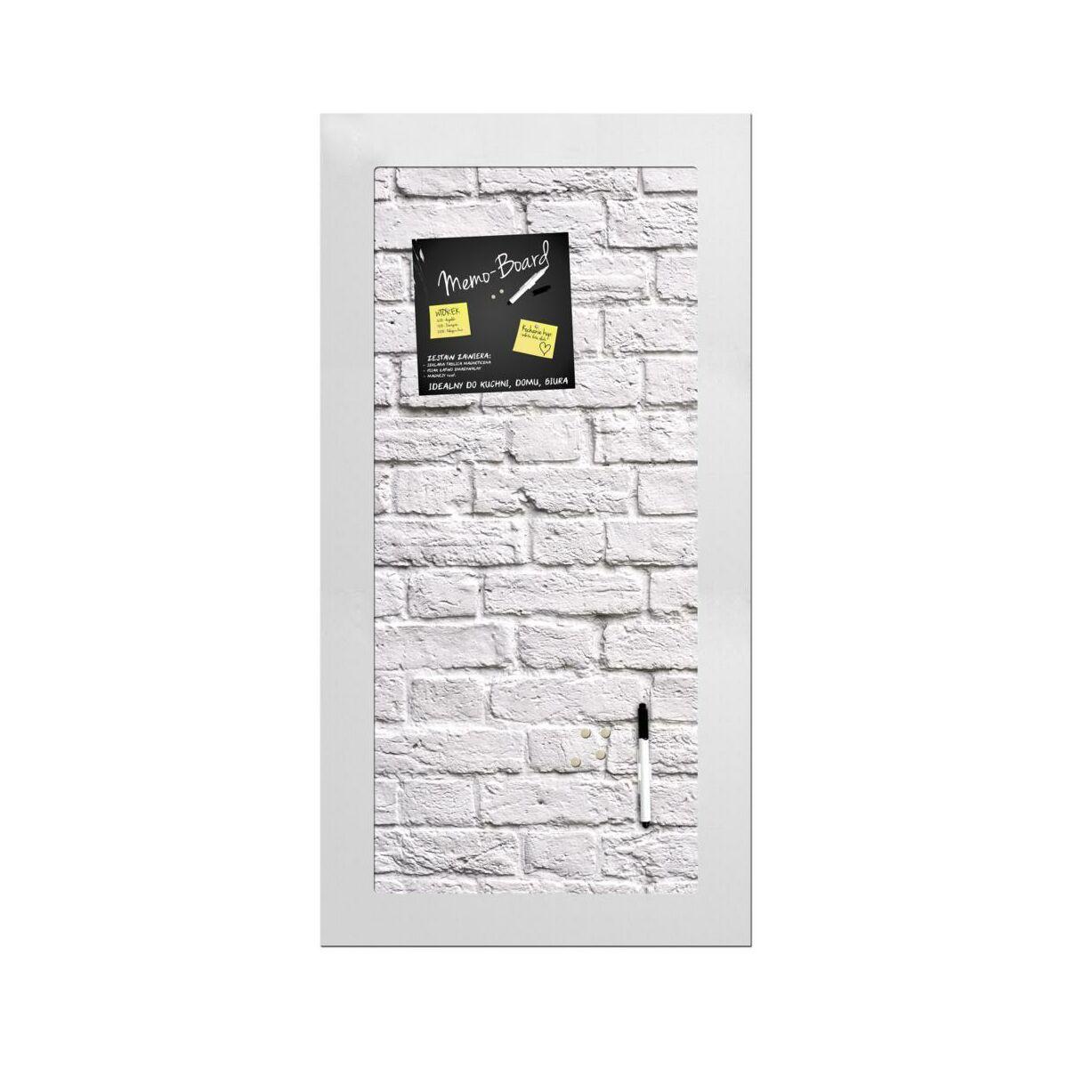 memoboard bia e ceg y 30 x 60 cm tablice memo i magnetyczne w atrakcyjnej cenie w sklepach. Black Bedroom Furniture Sets. Home Design Ideas