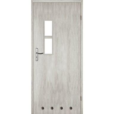 Skrzydło drzwiowe z tulejami wentylacyjnymi Monti Dąb srebrny 70 Prawe Voster