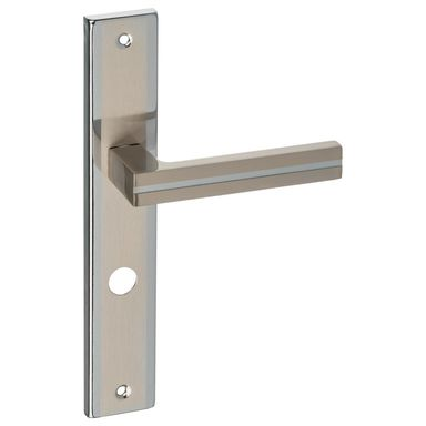 Klamka drzwiowa z długim szyldem do WC MADA 72 Nikiel/Chrom SCHAFFNER