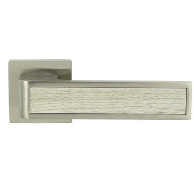 Klamka drzwiowa na rozecie DAVOS-QR Nikiel srebrny INSPIRE