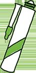 silikon przezroczysty lub w kolorze blatu