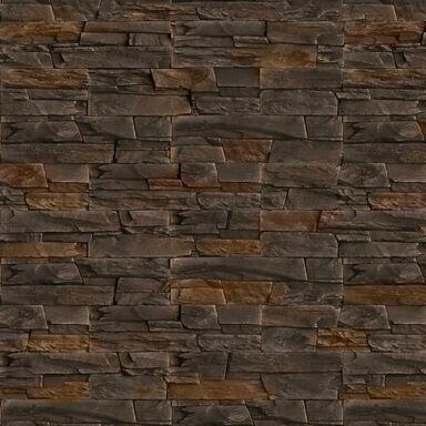 Kamień elewacyjny BASALTO COOPER Brązowy 37,5 x 10 cm DECORECO
