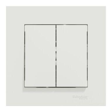Włącznik podwójny schodowy Miluz Ed biały SCHNEIDER ELECTRIC