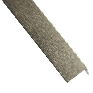 Kątownik aluminiowy 1 m x 23.5 x 19.5 mm tytan szczotkowany STANDERS