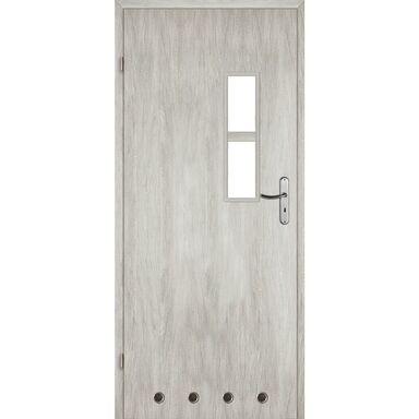 Skrzydło drzwiowe z tulejami wentylacyjnymi Monti Dąb srebrny 90 Lewe Voster