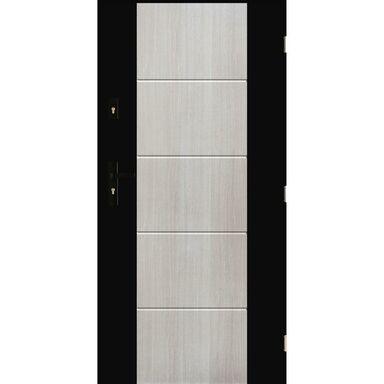Drzwi zewnętrzne stalowe Nicea Dąb Bielony 90 Prawe
