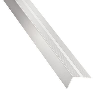 Kątownik aluminiowy 1 m x 25 x 6 mm anodowany srebrny