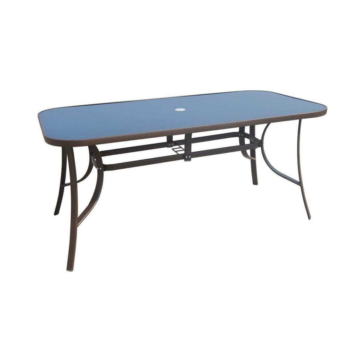 Stół Ogrodowy 90 X 160 Cm Cino Brązowy