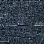 Kamień naturalny WALL CRAZY SILVER BLACK SMALL 40 x 10 cm KNAP