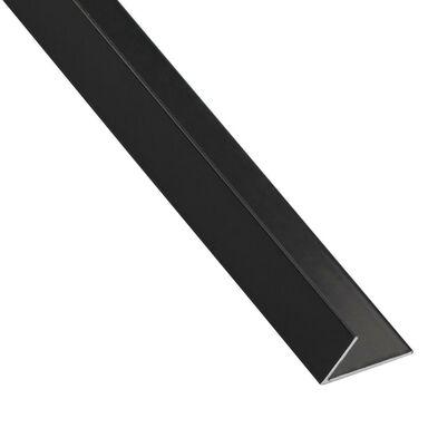 Kątownik aluminiowy 1 m x 16 x 11 mm matowy czarny STANDERS