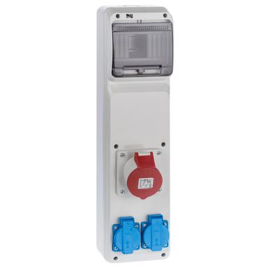 Rozdzielnica elektryczna bez wyposażenia RS 1 / 6 6240 - 01 / 2 X 2P + Z 3P + N + Z 16A ELEKTRO-PLAST