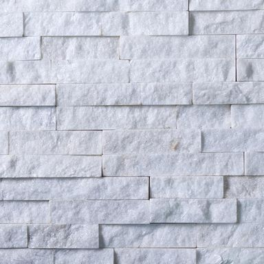 Kamień naturalny WALL CRAZY SNOW WHITE SMALL 40X10X0,5-1,5 CM KNAP
