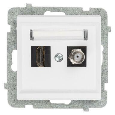 Gniazdo telewizyjno - komputerowe F/HDMI SONATA  Biały  OSPEL