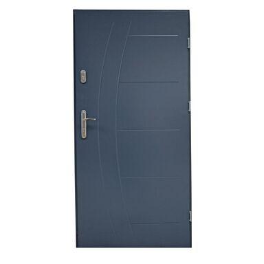 Drzwi zewnętrzne stalowe LUMIS Antracyt 90 Prawe