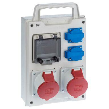 Rozdzielnica elektryczna bez wyposażenia RS 1 / 4 6212 - 00 / 2 X 2P + Z 2 X 3P + N + Z 32A ELEKTRO-PLAST