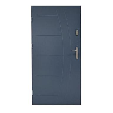 Drzwi zewnętrzne stalowe LUMIS Antracyt 90 Lewe