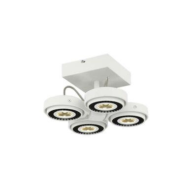 Lampa wisząca LED TECHNO biało/czarna