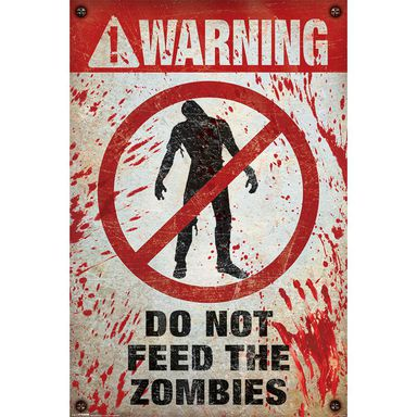 Plakat WARNING! ZOMBIES 61 x 91.5 cm