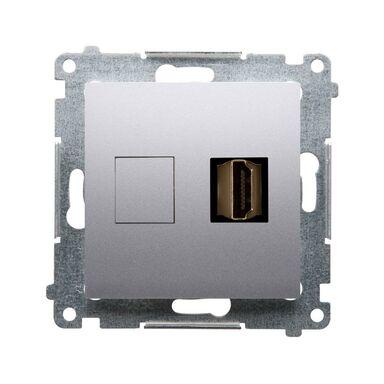 Gniazdo pojedyncze HDMI SIMON 54 PREMIUM  srebrny mat  KONTAKT SIMON
