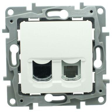 Gniazdo telefoniczno - komputerowe RJ11/RJ45 NILOE  Biały  LEGRAND