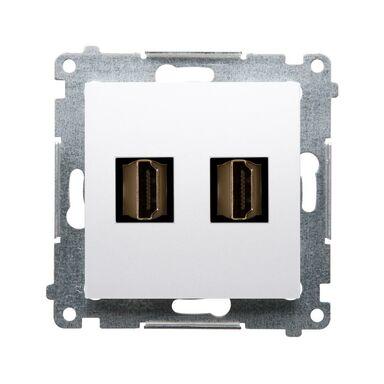 Gniazdo podwójne HDMI SIMON 54 PREMIUM  biały  KONTAKT SIMON