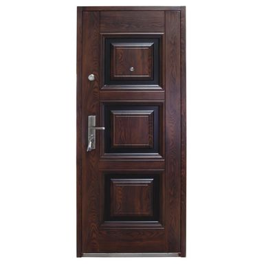 Drzwi wejściowe QUADRAT Mahoń 80 Prawe