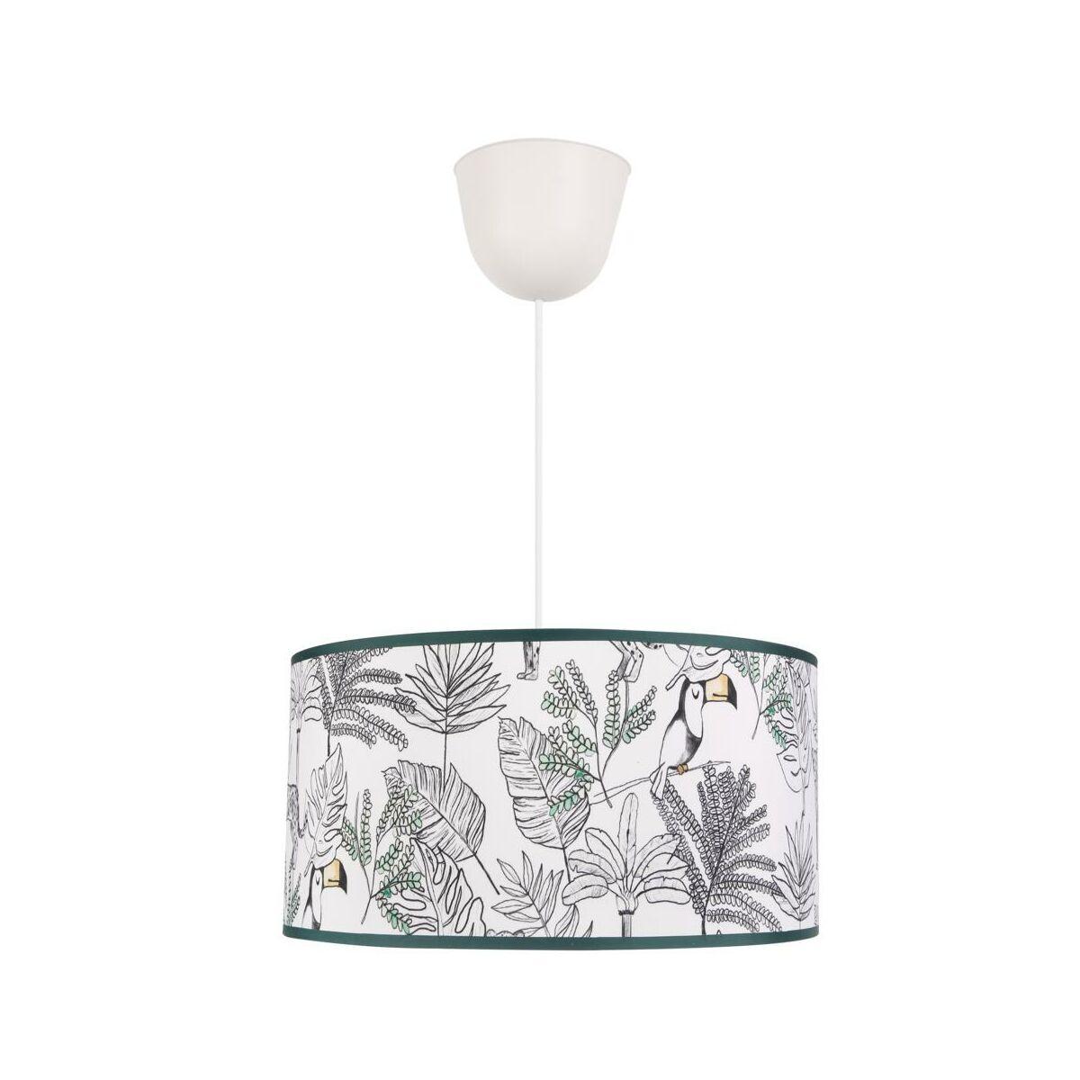 Lampa Wiszaca Tucan Bialo Zielona E27 Inspire Zyrandole Lampy Wiszace I Sufitowe W Atrakcyjnej Cenie W Sklepach Leroy Merlin