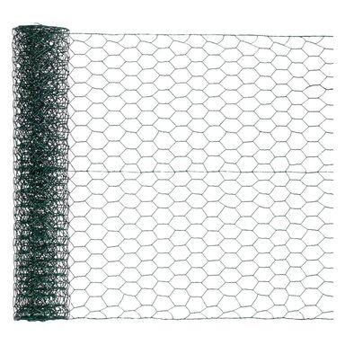 Siatka heksagonalna pleciona 0.5 x 5 m zielona