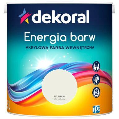 Farba wewnętrzna ENERGIA BARW 2.5 l Biel Wełny DEKORAL