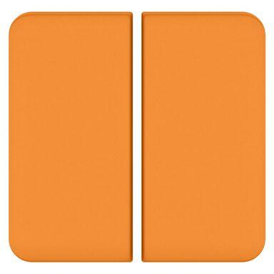 Plakietka do włącznika podwójnego schodowego  pomarańczowy  LEXMAN