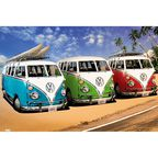 Plakat VW CALIFORNIAN CAMPER-BEA 91.5 x 61 cm