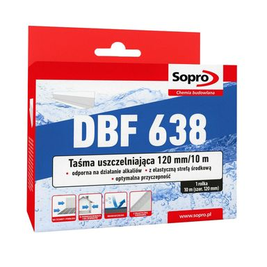 Taśma uszczelniająca DBF683/120/10M SOPRO