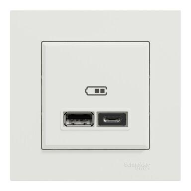 Gniazdo USB A+C Miluz Ed biały SCHNEIDER ELECTRIC