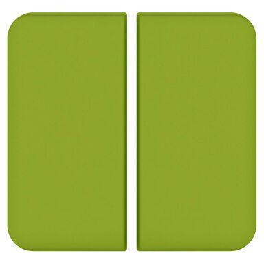 Plakietka do włącznika podwójnego schodowego  zielony  LEXMAN