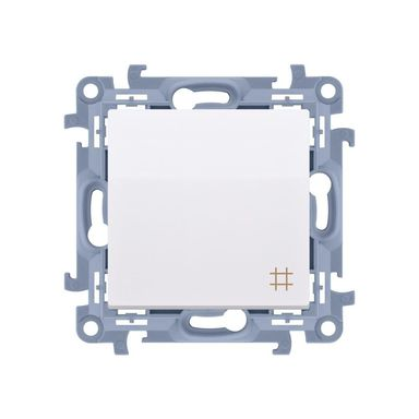 Włącznik krzyżowy SIMON 10  biały  SIMON
