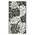 Dywan zewnętrzny Jawa biało-czarny 80 x 150 cm