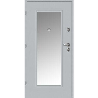 Drzwi wejściowe BRAGA Z LUSTREM Białe 80 Lewe LOXA