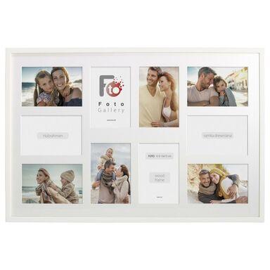 Multiramka na 10 zdjęć 62 x 42 cm biała drewniana