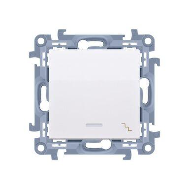 Włącznik pojedynczy schodowy z podświetleniem SIMON 10 biały SIMON