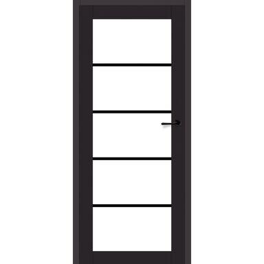 Skrzydło szklane INDUSTRIAL 90 Lewe Czarny mat ARTENS