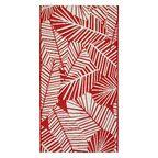 Dywan zewnętrzny Haiti czerwony 80 x 150 cm