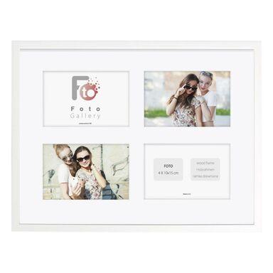 Multiramka na 4 zdjęcia 40 x 30 cm biała drewniana