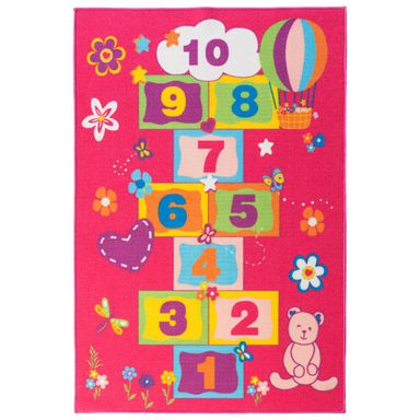 Dywan dziecięcy KLASY różowy 100 x 150 cm INSPIRE